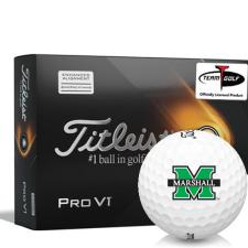 Titleist 2021 Pro V1 AIM Marshall Thundering Herd Golf Balls