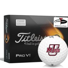 Titleist 2021 Pro V1 AIM UMass Minutemen Golf Balls