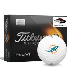 Titleist 2021 Pro V1 AIM Miami Dolphins Golf Balls
