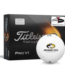 Titleist 2021 Pro V1 AIM Michigan Tech Huskies Golf Balls