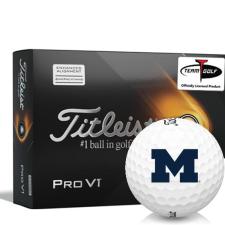 Titleist 2021 Pro V1 AIM Michigan Wolverines Golf Balls