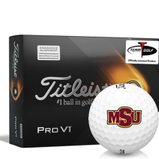 Titleist 2021 Pro V1 AIM Midwestern State Mustangs Golf Balls