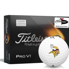 Titleist 2021 Pro V1 AIM Minnesota Vikings Golf Balls