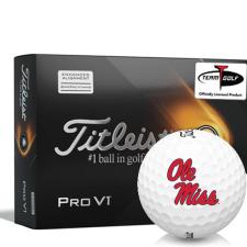 Titleist 2021 Pro V1 AIM Ole Miss Rebels Golf Balls