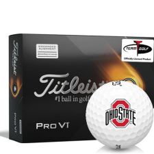 Titleist 2021 Pro V1 AIM Ohio State Buckeyes Golf Balls