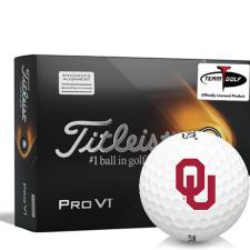 Titleist 2021 Pro V1 AIM Oklahoma Sooners Golf Balls