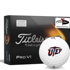Titleist 2021 Pro V1 AIM Texas El Paso Miners Golf Balls