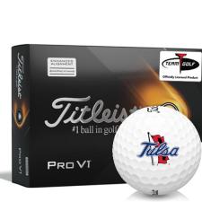 Titleist 2021 Pro V1 AIM Tulsa Golden Hurricane Golf Balls