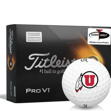Titleist 2021 Pro V1 AIM Utah Utes Golf Balls