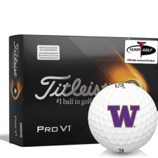 Titleist 2021 Pro V1 AIM Washington Huskies Golf Balls