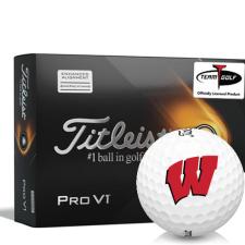 Titleist 2021 Pro V1 AIM Wisconsin Badgers Golf Balls