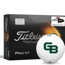 Titleist 2021 Pro V1 AIM Wisconsin Green Bay Phoenix Golf Balls