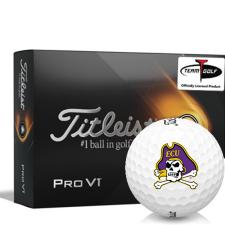 Titleist 2021 Pro V1 East Carolina Pirates Golf Balls