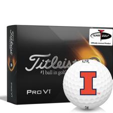 Titleist 2021 Pro V1 Illinois Fighting Illini Golf Balls