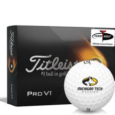 Titleist 2021 Pro V1 Michigan Tech Huskies Golf Balls