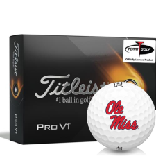 Titleist 2021 Pro V1 Ole Miss Rebels Golf Balls