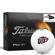 Titleist 2021 Pro V1 Texas El Paso Miners Golf Balls