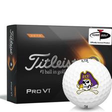 Titleist 2021 Pro V1 High Number East Carolina Pirates Golf Balls