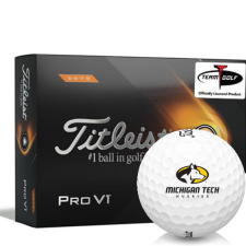 Titleist 2021 Pro V1 High Number Michigan Tech Huskies Golf Balls
