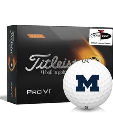 Titleist 2021 Pro V1 High Number Michigan Wolverines Golf Balls