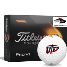 Titleist 2021 Pro V1 High Number Texas El Paso Miners Golf Balls