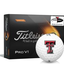 Titleist 2021 Pro V1 High Number Texas Tech Red Raiders Golf Balls
