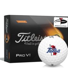 Titleist 2021 Pro V1 High Number Tulsa Golden Hurricane Golf Balls
