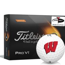 Titleist 2021 Pro V1 High Number Wisconsin Badgers Golf Balls