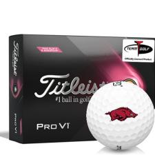 Titleist 2021 Pro V1 Pink Play & Sidestamp Arkansas Razorbacks Golf Balls