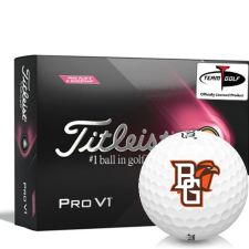 Titleist 2021 Pro V1 Pink Play & Sidestamp Bowling Green Falcons Golf Balls