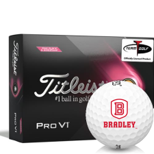Titleist 2021 Pro V1 Pink Play & Sidestamp Bradley Braves Golf Balls