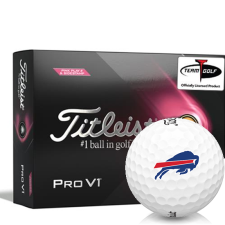 Titleist 2021 Pro V1 Pink Play & Sidestamp Buffalo Bills Golf Balls