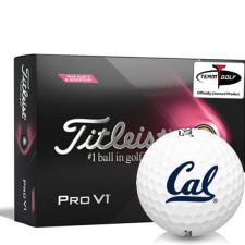 Titleist 2021 Pro V1 Pink Play & Sidestamp California Golden Bears Golf Balls