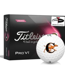 Titleist 2021 Pro V1 Pink Play & Sidestamp Campbell Fighting Camels Golf Balls