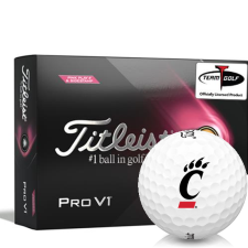 Titleist 2021 Pro V1 Pink Play & Sidestamp Cincinnati Bearcats Golf Balls