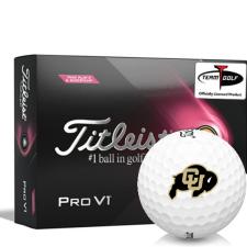 Titleist 2021 Pro V1 Pink Play & Sidestamp Colorado Buffaloes Golf Balls