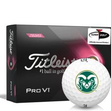 Titleist 2021 Pro V1 Pink Play & Sidestamp Colorado State Rams Golf Balls