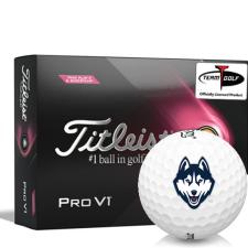 Titleist 2021 Pro V1 Pink Play & Sidestamp UConn Huskies Golf Balls
