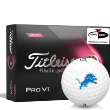 Titleist 2021 Pro V1 Pink Play & Sidestamp Detroit Lions Golf Balls