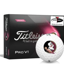 Titleist 2021 Pro V1 Pink Play & Sidestamp Florida State Seminoles Golf Balls