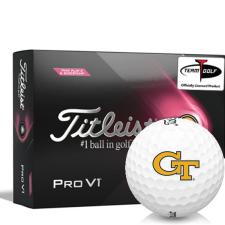 Titleist 2021 Pro V1 Pink Play & Sidestamp Georgia Tech Golf Balls