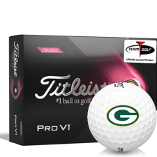 Titleist 2021 Pro V1 Pink Play & Sidestamp Green Bay Packers Golf Balls