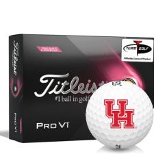 Titleist 2021 Pro V1 Pink Play & Sidestamp Houston Cougars Golf Balls