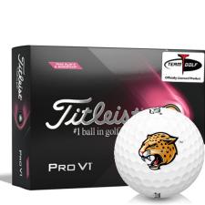 Titleist 2021 Pro V1 Pink Play & Sidestamp IUPUI Jaguars Golf Balls