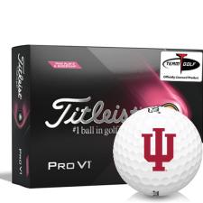 Titleist 2021 Pro V1 Pink Play & Sidestamp Indiana Hoosiers Golf Balls