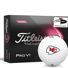 Titleist 2021 Pro V1 Pink Play & Sidestamp Kansas City Chiefs Golf Balls