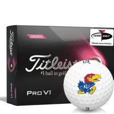 Titleist 2021 Pro V1 Pink Play & Sidestamp Kansas Jayhawks Golf Balls