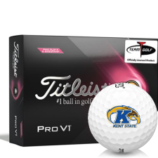 Titleist 2021 Pro V1 Pink Play & Sidestamp Kent State Golden Flashes Golf Balls