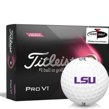 Titleist 2021 Pro V1 Pink Play & Sidestamp LSU Tigers Golf Balls