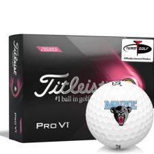 Titleist 2021 Pro V1 Pink Play & Sidestamp Maine Black Bears Golf Balls
